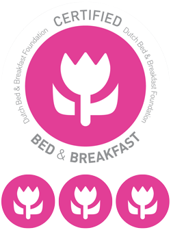 Stadslogement KingSize is door Stichting Bed & Breakfast Nederland met 3 tulpen gecertificeerd